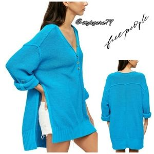 NWT, Free People, Firefly Tunic  in Surf Blue